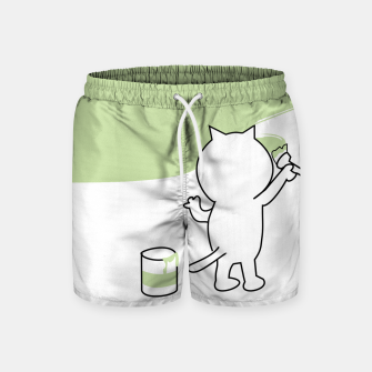 Thumbnail image of Malende Katze Kater Painting Cat Kitty Badeshorts, Live Heroes