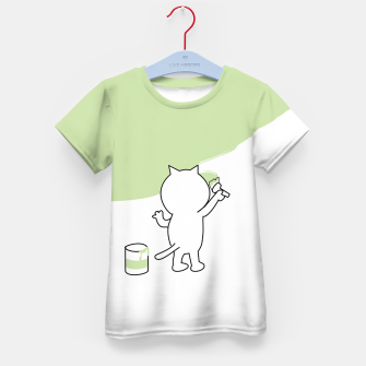 Thumbnail image of Malende Katze Kater Painting Cat Kitty T-Shirt für kinder, Live Heroes