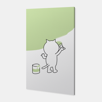Thumbnail image of Malende Katze Kater Painting Cat Kitty Canvas, Live Heroes