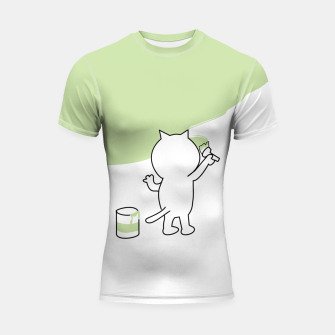 Thumbnail image of Malende Katze Kater Painting Cat Kitty Shortsleeve rashguard, Live Heroes