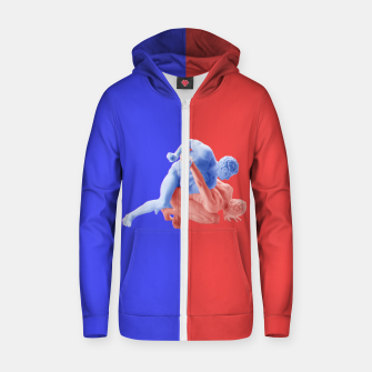 Miniaturka assertive Cotton zip up hoodie, Live Heroes