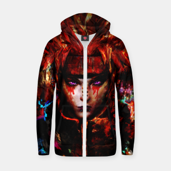 Thumbnail image of pain Cotton zip up hoodie, Live Heroes