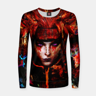 Thumbnail image of pain Woman cotton sweater, Live Heroes