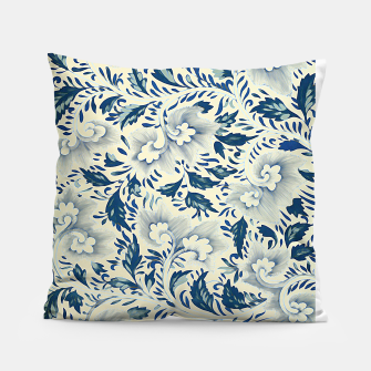 Thumbnail image of Blue white Chinese floral motifs Pillow, Live Heroes
