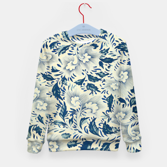 Thumbnail image of Blue white Chinese floral motifs Kid's sweater, Live Heroes
