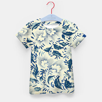 Thumbnail image of Blue white Chinese floral motifs Kid's t-shirt, Live Heroes