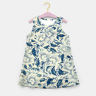 Thumbnail image of Blue white Chinese floral motifs Girl's summer dress, Live Heroes