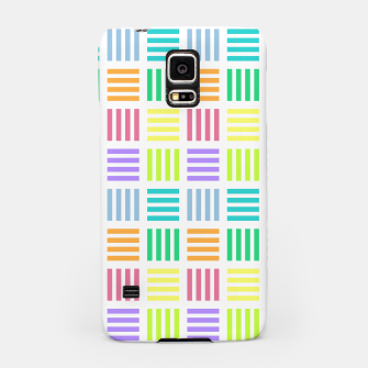 Thumbnail image of Multicoloured Geometric Block Stripes Repeat Digital Pattern Samsung Case, Live Heroes