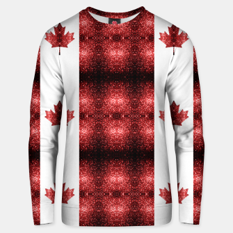 Thumbnail image of Canada flag red sparkles pattern Cotton sweater, Live Heroes
