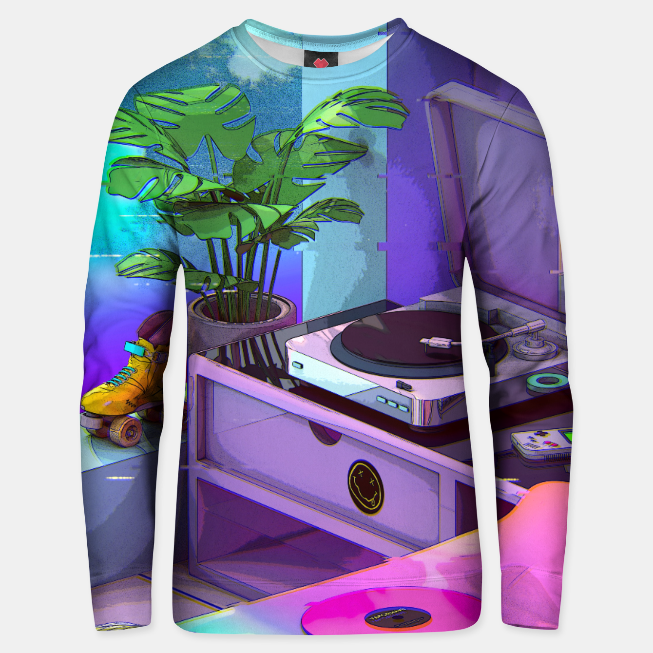 Image of vaporwave aesthetic Cotton sweater - Live Heroes