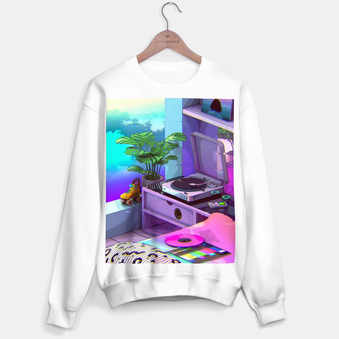Image of vaporwave aesthetic Sweater regular - Live Heroes