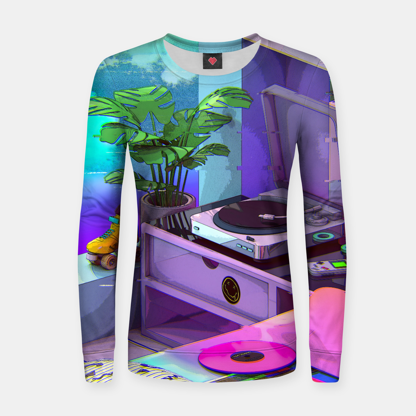 Image of vaporwave aesthetic Woman cotton sweater - Live Heroes
