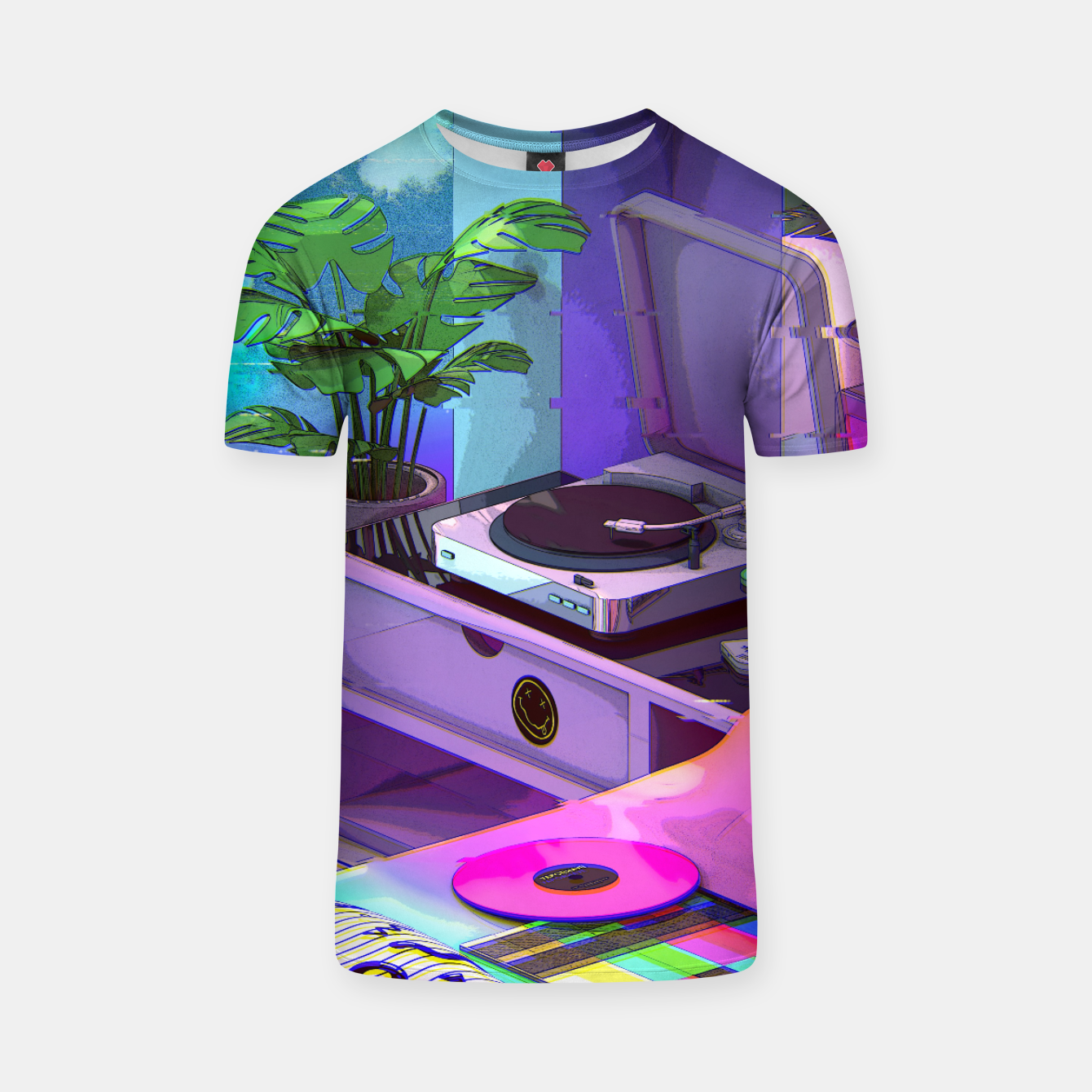 Image of vaporwave aesthetic T-shirt - Live Heroes