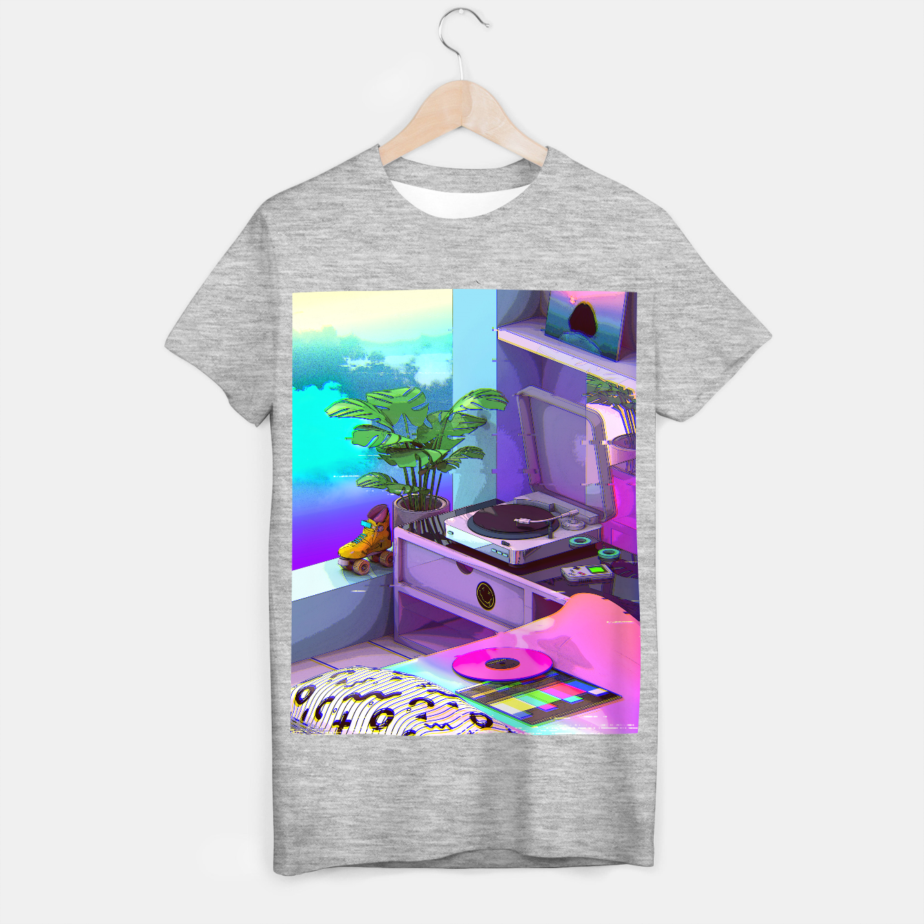 Image of vaporwave aesthetic T-shirt regular - Live Heroes