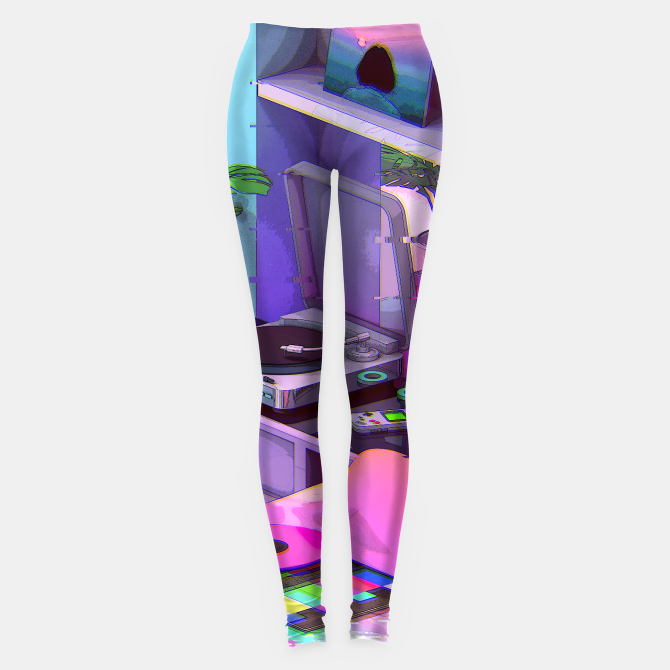 Image of vaporwave aesthetic Leggings - Live Heroes