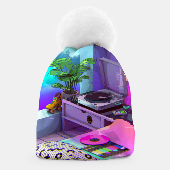 Thumbnail image of vaporwave aesthetic Beanie, Live Heroes