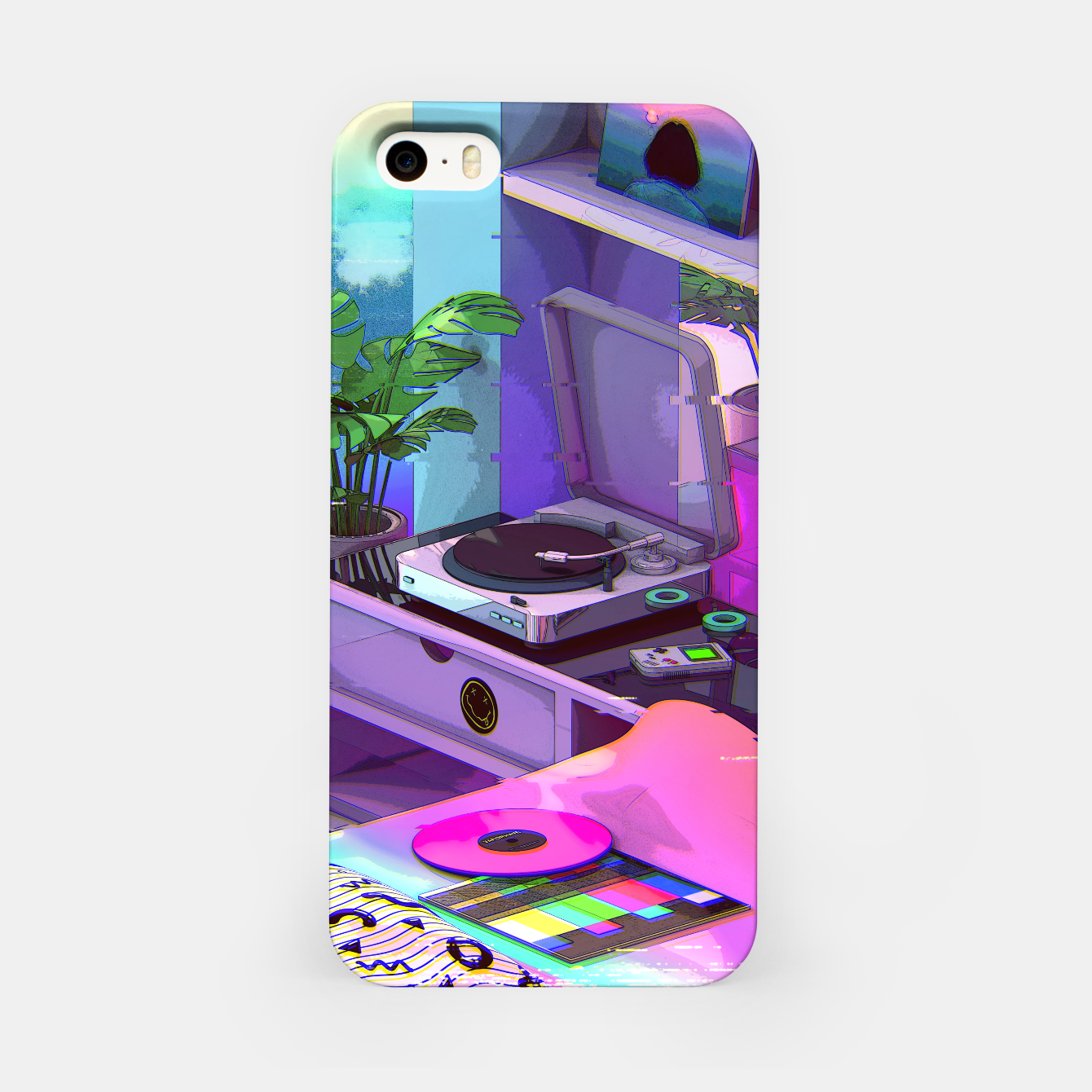 Image of vaporwave aesthetic iPhone Case - Live Heroes