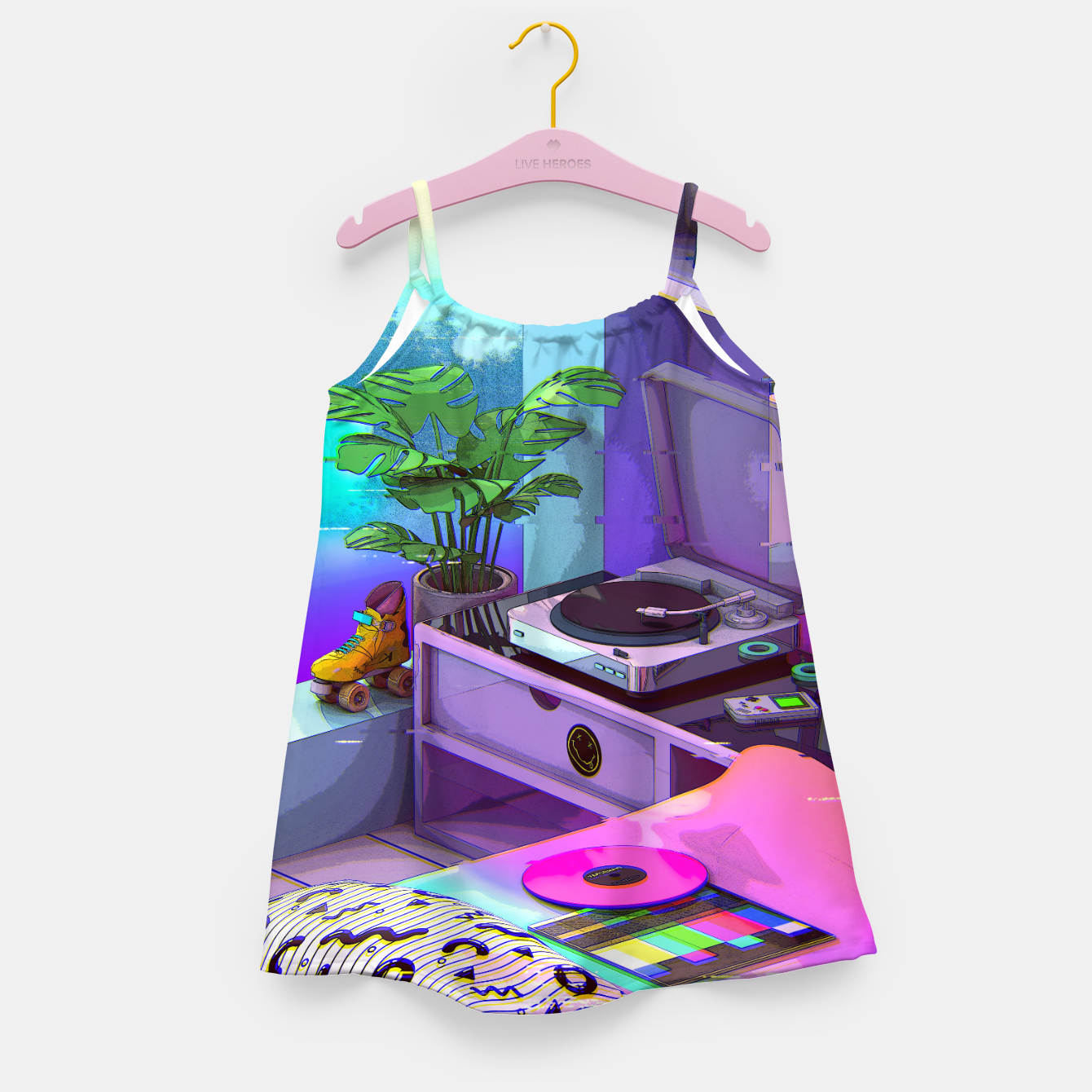 Image of vaporwave aesthetic Girl's dress - Live Heroes
