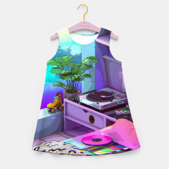 Thumbnail image of vaporwave aesthetic Girl's summer dress, Live Heroes