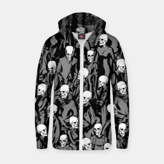 Thumbnail image of Skull Society Cotton zip up hoodie, Live Heroes