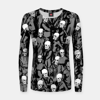Thumbnail image of Skull Society Woman cotton sweater, Live Heroes