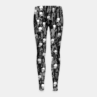 Thumbnail image of Skull Society Girl's leggings, Live Heroes