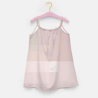 Thumbnail image of Pale Dusty Rose and Greys Girl's dress, Live Heroes