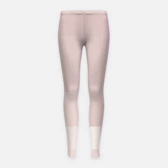 Thumbnail image of Pale Dusty Rose and Greys Girl's leggings, Live Heroes