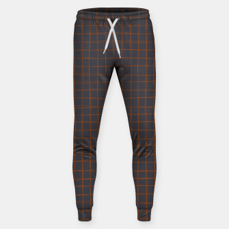 Thumbnail image of Grey and Rust Thread Pattern  Cotton sweatpants, Live Heroes