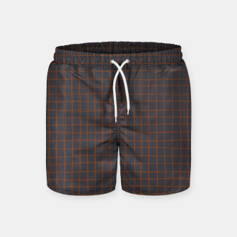 Thumbnail image of Grey and Rust Thread Pattern  Swim Shorts, Live Heroes