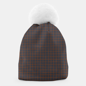 Thumbnail image of Grey and Rust Thread Pattern  Beanie, Live Heroes