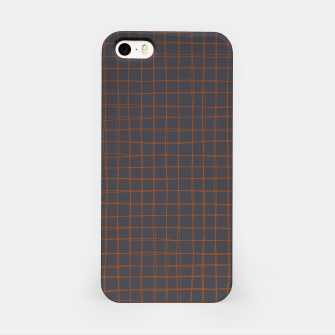 Thumbnail image of Grey and Rust Thread Pattern  iPhone Case, Live Heroes