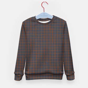Thumbnail image of Grey and Rust Thread Pattern  Kid's sweater, Live Heroes
