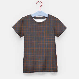 Thumbnail image of Grey and Rust Thread Pattern  Kid's t-shirt, Live Heroes
