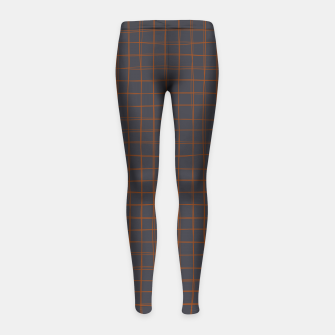Thumbnail image of Grey and Rust Thread Pattern  Girl's leggings, Live Heroes