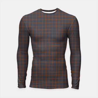 Thumbnail image of Grey and Rust Thread Pattern  Longsleeve rashguard , Live Heroes