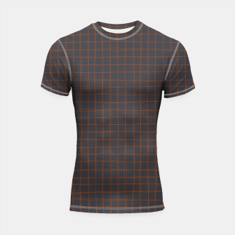 Thumbnail image of Grey and Rust Thread Pattern  Shortsleeve rashguard, Live Heroes