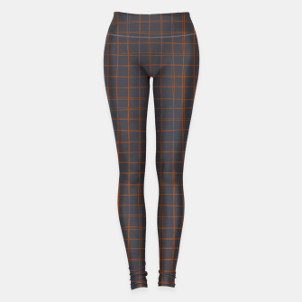 Thumbnail image of Grey and Rust Thread Pattern  Leggings, Live Heroes