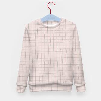 Thumbnail image of Grey threads on pale dusty rose Kid's sweater, Live Heroes