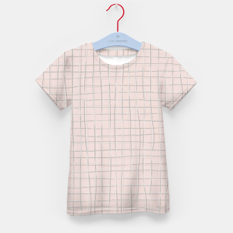 Thumbnail image of Grey threads on pale dusty rose Kid's t-shirt, Live Heroes