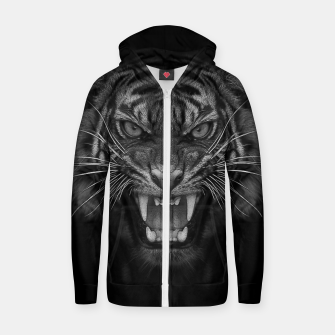 Thumbnail image of Heart of a Tiger Cotton zip up hoodie, Live Heroes