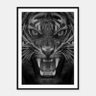 Thumbnail image of Heart of a Tiger Framed poster, Live Heroes