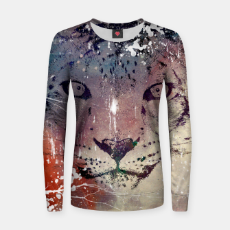 Thumbnail image of Snow Leopard Universe Woman cotton sweater, Live Heroes