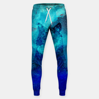 Thumbnail image of Wolf In Galactic Universe Bash In Pine Trees Cotton sweatpants, Live Heroes