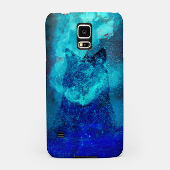 Thumbnail image of Wolf In Galactic Universe Bash In Pine Trees Samsung Case, Live Heroes