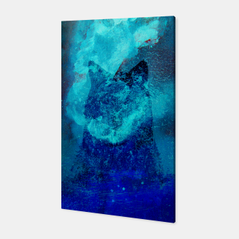 Miniatur Wolf In Galactic Universe Bash In Pine Trees Canvas, Live Heroes