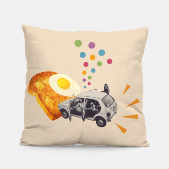 Don't Forget Breakfast! Pillow Bild der Miniatur