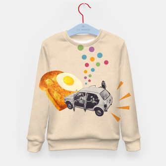 Don't Forget Breakfast! Kid's sweater Bild der Miniatur