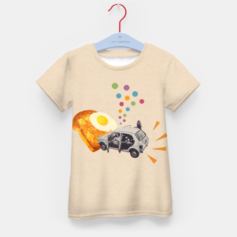Don't Forget Breakfast! Kid's t-shirt Bild der Miniatur