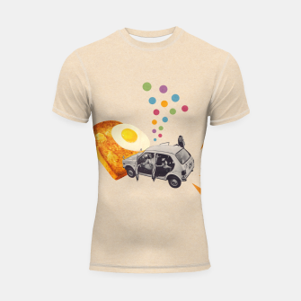 Thumbnail image of Don't Forget Breakfast! Shortsleeve rashguard, Live Heroes